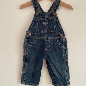 Oshkosh B'gosh denim overalls size 6 mths baby